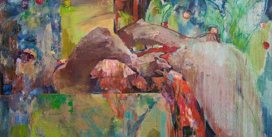 Хамелеон. 110x150.2017